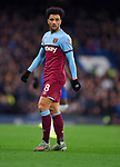 Felipe Anderson of West Ham United during the Premier League match at Stamford Bridge, London. Picture date: 30th November 2019. Picture credit should read: Robin Parker/Sportimage