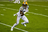 Green Bay Packers cornerback Josh Hawkins (28) during a National Football League game against the Chicago Bears on September 28, 2017 at Lambeau Field in Green Bay, Wisconsin. Green Bay defeated Chicago 35-14. (Brad Krause/Krause Sports Photography)