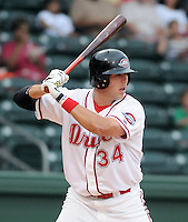 May 27, 2008: Outfielder Jered Stanley (34) of the Greenville Drive, Class A affiliate of the Boston Red Sox, in a game at Fluor Field at the West End in Greenville, S.C. Photo by:  Tom Priddy/Four Seam Images