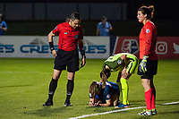 Kansas City, MO - Saturday June 17, 2017: Farhad Dadkho , Maegan Kelly, Lauren Barnes, Haley Kopmeyer during a regular season National Women's Soccer League (NWSL) match between FC Kansas City and the Seattle Reign FC at Children's Mercy Victory Field.