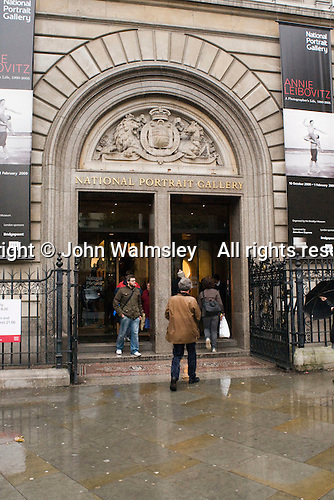 National Portrait Gallery, London.  Main entrance.