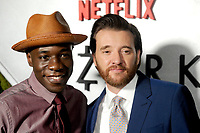 Patrick Markey and Jason Butler Harner attend the Netflix Original 'Ozark' screening at The Metrograph on July 20, 2017 in New York City.