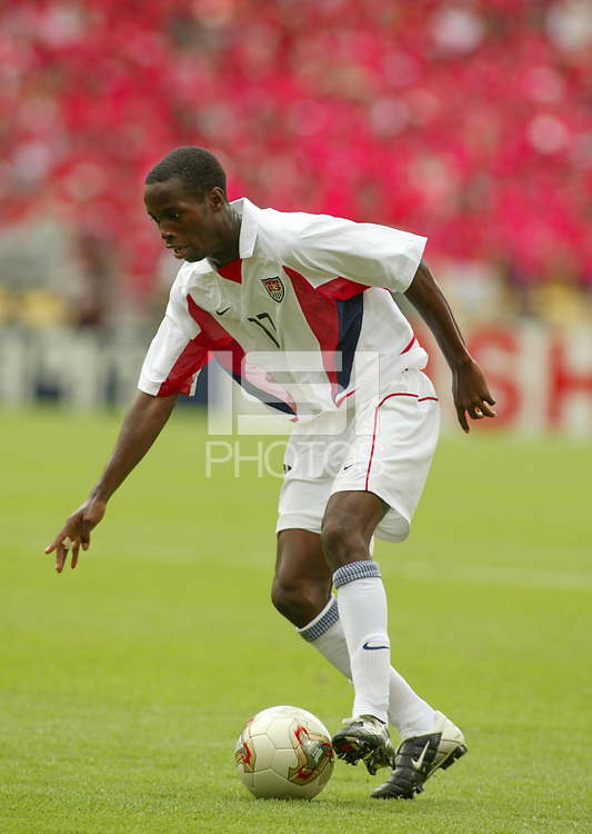 DaMarcus Beasley during USA vs South Korea in the 2002 World Cup in South Korea.