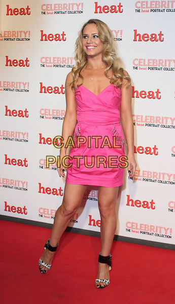 KATYA VIRSHILAS.'Celebrity! - the Heat Portrait Collection' Private View held at the Brunswick Gallery, London, England..November 26th, 2009.full length pink strapless dress black ankle strap sandals .CAP/JIL.©Jill Mayhew/Capital Pictures
