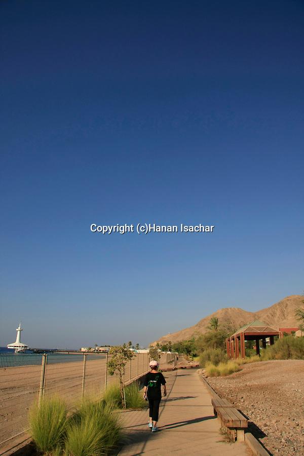 Israel, the Red Sea. Almog promenade in Eilat