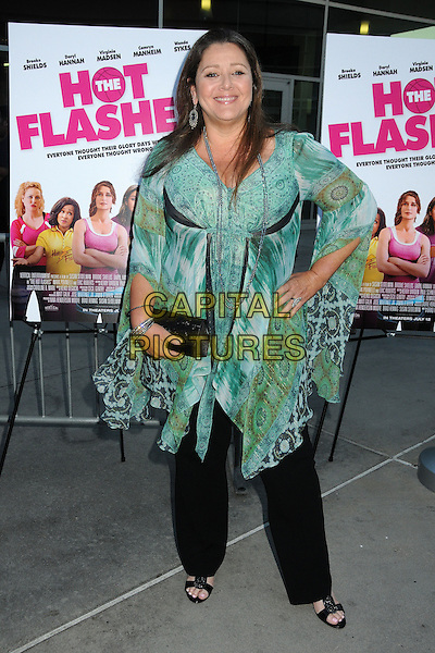 Camryn Manheim<br /> &quot;The Hot Flashes&quot; Los Angeles Premiere held at Arclight Cinemas, Hollywood, California, USA, 27 June 2013.<br /> full length green print top black trousers clutch bag hand on hip <br /> CAP/ADM/BP<br /> &copy;Byron Purvis/AdMedia/Capital Pictures