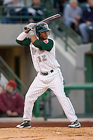 Jeudy Valdez #12 of the Fort Wayne Tin Caps at bat versus the Dayton Dragons at Parkview Field April 16, 2009 in Fort Wayne, Indiana. (Photo by Brian Westerholt / Four Seam Images)