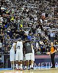 KOSARKA, BEOGRAD, 15. Dec. 2010. - Navijaci Partizana. Utakmica 9. kola Evrolige za sezonu 2010/2011 izmedju Partizana i Prokom odigrane u hali Pionir. Euroleague 9. round Partizan vs Asseco Prokom.  Foto: Nenad Negovanovic