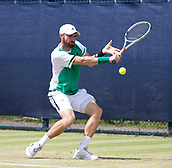 June 15th 2017, Nottingham, England; ATP Aegon Nottingham Open Tennis Tournament day 6;  Bjorn Fratangelo of USA beats Kenny De Schepper of France in two sets in round 2