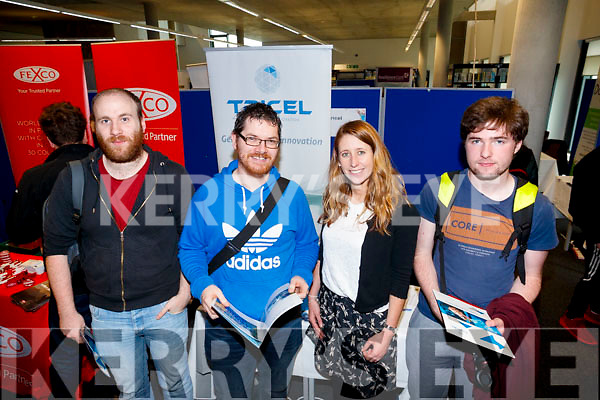 David O'Connor, Glen Curran, Ciara Tierney, Tricel and Cian Carlos at the Careers Fair at Tralee IT on Wednesday.