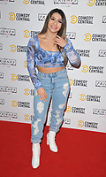 LONDON, ENGLAND - NOVEMBER 28: Claudia Fragapane at the Comedy Central's FriendsFestive exhibition VIP launch, Old Truman Brewery, Hanbury Street on Thursday 28 November 2019 in London, England, UK. <br /> CAP/CAN<br /> ©CAN/Capital Pictures