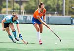 BLOEMENDAAL - Ekki Lemmink (Bl'daal)  , 2e play out wedstrijd tussen Bloemendaal-HGC dames (2-0). COPYRIGHT KOEN SUYK