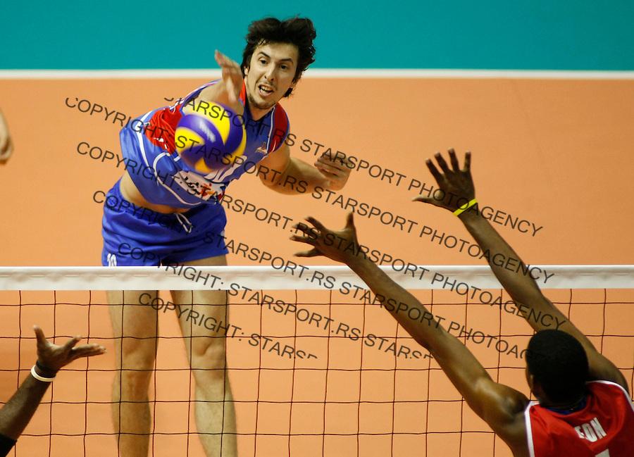 Odbojka.Serbia Vs. Cuba, tournament.Milos Nikic.Belgrade, 08.09.2010.foto: Srdjan Stevanovic/Starsportphoto ©