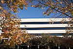 November 05, 2009. Cary, North Carolina.. SAS, the largest private software company, makes a product called business intelligence or business optimization software, that looks for usable nuggets of information and insights in vast quantities of data. As the market for these types of products grows, SAS faces competition from some of the giants in the industry, such as Microsoft and IBM. The company differs from most in that it also provides many services for its employees, such as primary care doctors, daycare and a gym.  . The outside of the Reasearch and Development building.