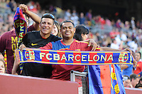 FC Barcelona fans. Manchester United defeated Barcelona FC 2-1 at FedEx Field in Landover, MD Saturday July 30, 2011.