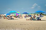 Hammonasset Beach State Park, Madison, CT. Meigs Point. Beach and sunbathers. Long Island Sound