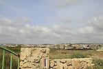 Israel, Carmel coast, Israel Trail by Arab town Jisr az-Zarqa