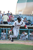 Marcus Davis (6) of the Lake Elsinore Storm bats during a game against the Lancaster JetHawks at The Hanger on August 29, 2015 in Lancaster, California. Lancaster defeated Lake Elsinore 7-4. (Larry Goren/Four Seam Images)