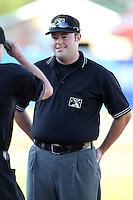 Umpire Matt Deane during a game at Fifth Third Field in Comstock Park, Michigan;  August 16, 2010.  Photo By Mike Janes/Four Seam Images
