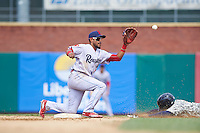 Reading Fightin Phils second baseman Jesmuel Valentin (2) during a game against the New Hampshire Fisher Cats on May 30, 2016 at Northeast Delta Dental Stadium in Manchester, New Hampshire.  New Hampshire defeated Reading 9-1.  (Mike Janes/Four Seam Images)