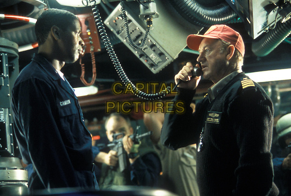 Denzel Wshington &amp; Gene Hackman <br /> in Crimson Tide (1995) <br /> *Filmstill - Editorial Use Only*<br /> CAP/NFS<br /> Image supplied by Capital Pictures