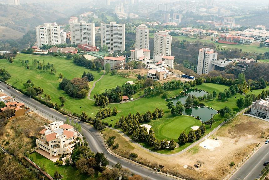 The wealthy Interlomas area of Mexico City. Aerial shots of Mexico City
