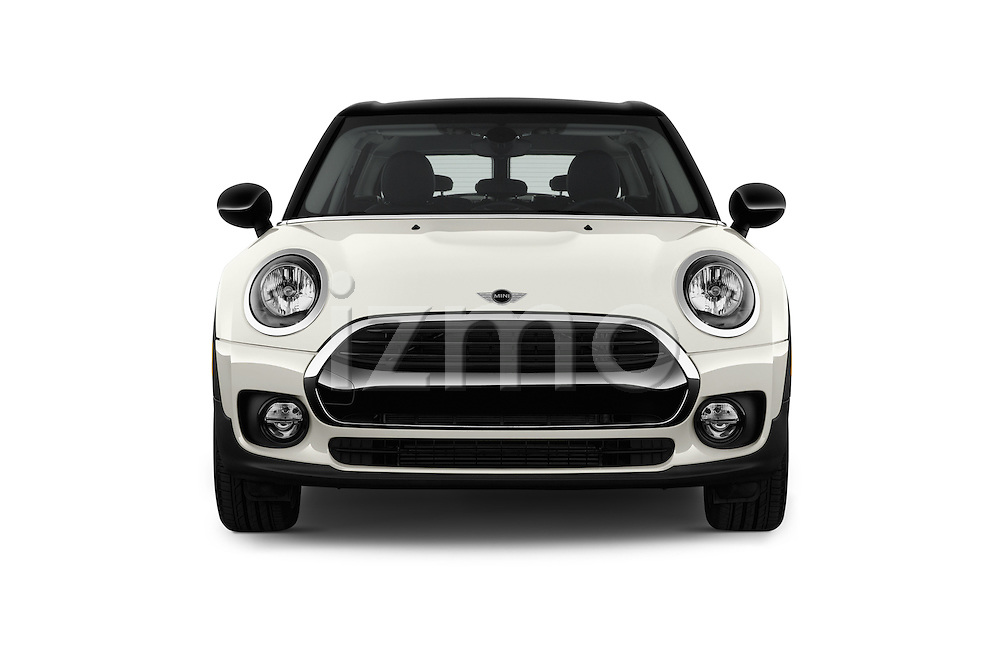 Car photography straight front view of a 2018 MINI CLUBMAN Cooper 5 Door wagon Front View
