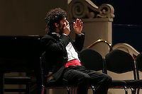 PICTURE BY VAUGHN RIDLEY/SWPIX.COM - Leeds International Piano Competition 2012 - Leeds Town Hall, Leeds, England - 15/09/12 - Federico Colli of Italy wins the Leeds International Piano Competition 2012.
