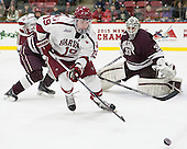 Jimmy Vesey (Harvard - 19), Bruce Racine (Colgate - 33) -  - The Harvard University Crimson defeated the visiting Colgate University Raiders 7-4 (EN) on Saturday, February 20, 2016, at Bright-Landry Hockey Center in Boston, Massachusetts.