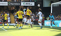 West Ham United's Sebastien Haller scores his side's third goal <br /> <br /> Photographer Rob Newell/CameraSport<br /> <br /> The Premier League - Watford v West Ham United - Saturday 24th August 2019 - Vicarage Road - Watford<br /> <br /> World Copyright © 2019 CameraSport. All rights reserved. 43 Linden Ave. Countesthorpe. Leicester. England. LE8 5PG - Tel: +44 (0) 116 277 4147 - admin@camerasport.com - www.camerasport.com