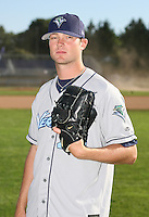 2007:  Caleb Staudt of the Vermont Lake Monsters, Class-A affiliate of the Washington Nationals, during the New York-Penn League baseball season.  Photo by Mike Janes/Four Seam Images