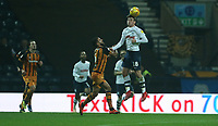 Preston North End's Ryan Ledson clears from Hull City's Kevin Stewart<br /> <br /> Photographer Stephen White/CameraSport<br /> <br /> The EFL Sky Bet Championship - Preston North End v Hull City - Wednesday 26th December 2018 - Deepdale Stadium - Preston<br /> <br /> World Copyright &copy; 2018 CameraSport. All rights reserved. 43 Linden Ave. Countesthorpe. Leicester. England. LE8 5PG - Tel: +44 (0) 116 277 4147 - admin@camerasport.com - www.camerasport.com