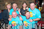 Pictured at the headshave inaid of Crumlin Childrens Hospital in Galvins Bar, Beaufort on Saturday night were John Doona, Tim O'Connor, Mary Healy, Billy Coffey, Celia O'Connor, and Brendan O'Donoghue.
