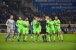 01.12.2018, wirsol Rhein-Neckar-Arena, Sinsheim, GER, 1 FBL, TSG 1899 Hoffenheim vs FC Schalke 04, <br /> <br /> DFL REGULATIONS PROHIBIT ANY USE OF PHOTOGRAPHS AS IMAGE SEQUENCES AND/OR QUASI-VIDEO.<br /> <br /> im Bild: Die Schalker diskutieren mit Schiedsrichter Dr. Robert Kampka nach dem Elfmeterpfiff<br /> <br /> Foto © nordphoto / Fabisch