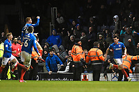 Portsmouth players celebrate the winning goal scored by John Marquis of Portsmouth right during Portsmouth vs Exeter City, Leasing.com Trophy Football at Fratton Park on 18th February 2020