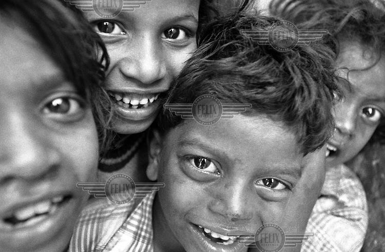 Children living in a local slum.