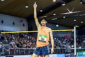 2nd February 2019, Karlsruhe, Germany;  High Jump Men: Winner Naoto Tobe (JAP). IAAF Indoor athletics meeting, Karlsruhe
