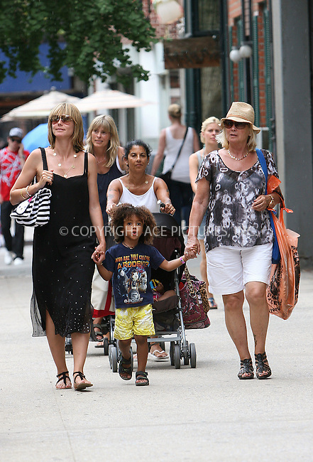 WWW.ACEPIXS.COM . . . . .  ....July 11 2010, New York City....German model and TV personality Heidi Klum with a Hello Kitty bag over her shoulder seen out with  her four children (Leni, Henry, Johan, Lou)  and her mother Erna Klum in the West Village on July 11 2010 in New York City.....Please byline: NANCY RIVERA- ACE PICTURES.... *** ***..Ace Pictures, Inc:  ..tel: (212) 243 8787 or (646) 769 0430..e-mail: info@acepixs.com..web: http://www.acepixs.com