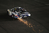 Apr 11, 2008; Avondale, AZ, USA; NASCAR Nationwide Series driver Jamie McMurray sparks after hitting the wall during the Bashas Supermarkets 200 at the Phoenix International Raceway. Mandatory Credit: Mark J. Rebilas-