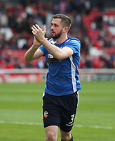 Bolton Wanderers' Andrew Taylor during the pre-match warm-up <br /> <br /> Photographer Rachel Holborn/CameraSport<br /> <br /> The EFL Sky Bet Championship - Barnsley v Bolton Wanderers - Saturday 14th April 2018 - Oakwell - Barnsley<br /> <br /> World Copyright &copy; 2018 CameraSport. All rights reserved. 43 Linden Ave. Countesthorpe. Leicester. England. LE8 5PG - Tel: +44 (0) 116 277 4147 - admin@camerasport.com - www.camerasport.com