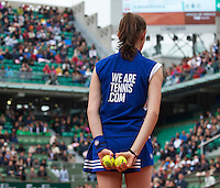 Paris, France, 23 june, 2016, Tennis, Roland Garros, Ballgirl<br /> Photo: Henk Koster/tennisimages.com