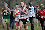 EVANSVILLE, IN - NOVEMBER 18: Kyle Medina (92) of Chico State leads a pack of runners during the Division II Men's Cross Country Championship held at the Angel Mounds on November 18, 2017 in Evansville, Indiana. (Photo by Tim Broekema/NCAA Photos/NCAA Photos via Getty Images)