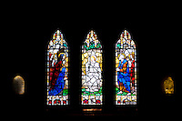 Stained Glass Window Inside Old St. Paul's Cathedral, Wellington, North Island, New Zealand. This photo shows one of the stained glass windows inside Old St. Paul's Cathedral, located in the centre of Wellington, the capital city of New Zealand.
