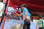 Jakob Fuglsang (DEN) Astana Pro Team at sign on before the start of Stage 4 of La Vuelta 2019 running 175.5km from Cullera to El Puig, Spain. 27th August 2019.<br /> Picture: Eoin Clarke | Cyclefile<br /> <br /> All photos usage must carry mandatory copyright credit (© Cyclefile | Eoin Clarke)