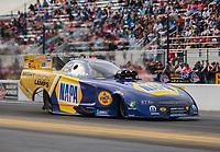 Oct 14, 2018; Concord, NC, USA; NHRA funny car driver Ron Capps during the Carolina Nationals at zMax Dragway. Mandatory Credit: Mark J. Rebilas-USA TODAY Sports