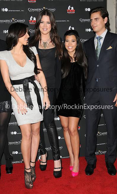Kim Kardashian,Khloe Kardashian Odom, Kourtney Kardashian & Scott Disick at The Kardashian Charity Knock Out held at The Commerce Casino in Commerce, California on November 03,2009                                                                   Copyright 2009 DVS / RockinExposures