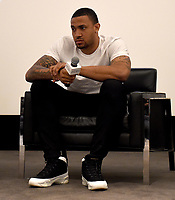 """WEST HOLLYWOOD - FEBRUARY 15: Marquise Pryor on the Q&A panel following the LA screening of Fox Sports """"Shot in the Dark"""" at the Pacific Design Center on February 15, 2018 in West Hollywood, California.(Photo by Frank Micelotta/Fox/PictureGroup)"""