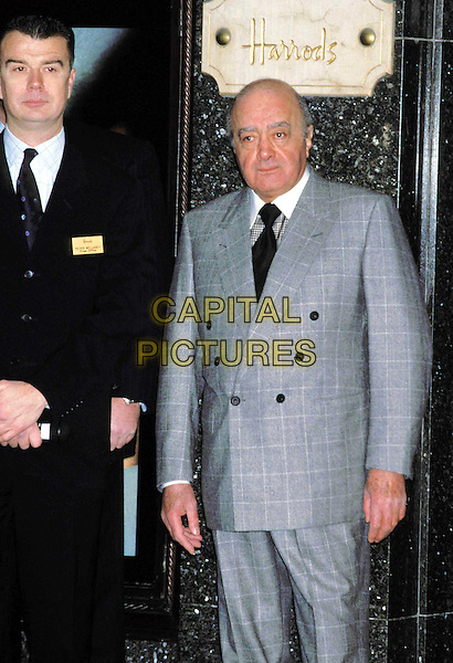 MOHAMMED AL FAYED..Ref:11326..harrods, gray suit, grey suit, half length, half-length..www.capitalpictures.com..sales@capitalpictures.com..©Capital Pictures..