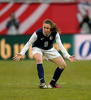 Offenbach, Germany, Friday, April 05 2013: Womans, Germany vs. USA, in the Stadium in Offenbach,    Heather O`Reilly (USA)..