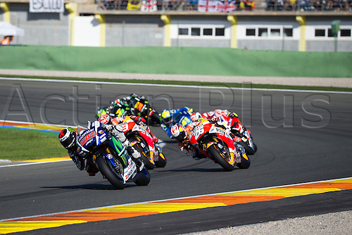 08.11.2015 Cheste, Valencia, Spain, Grand Prix Motul of Comunitat Valenciana. Jorge Lorenzo (ESP), Movistar Yamaha MotoGP rider, in action during the race of MotoGP in the Grand Prix Motul of Comunitat Valenciana  from the Circuito de Cheste.